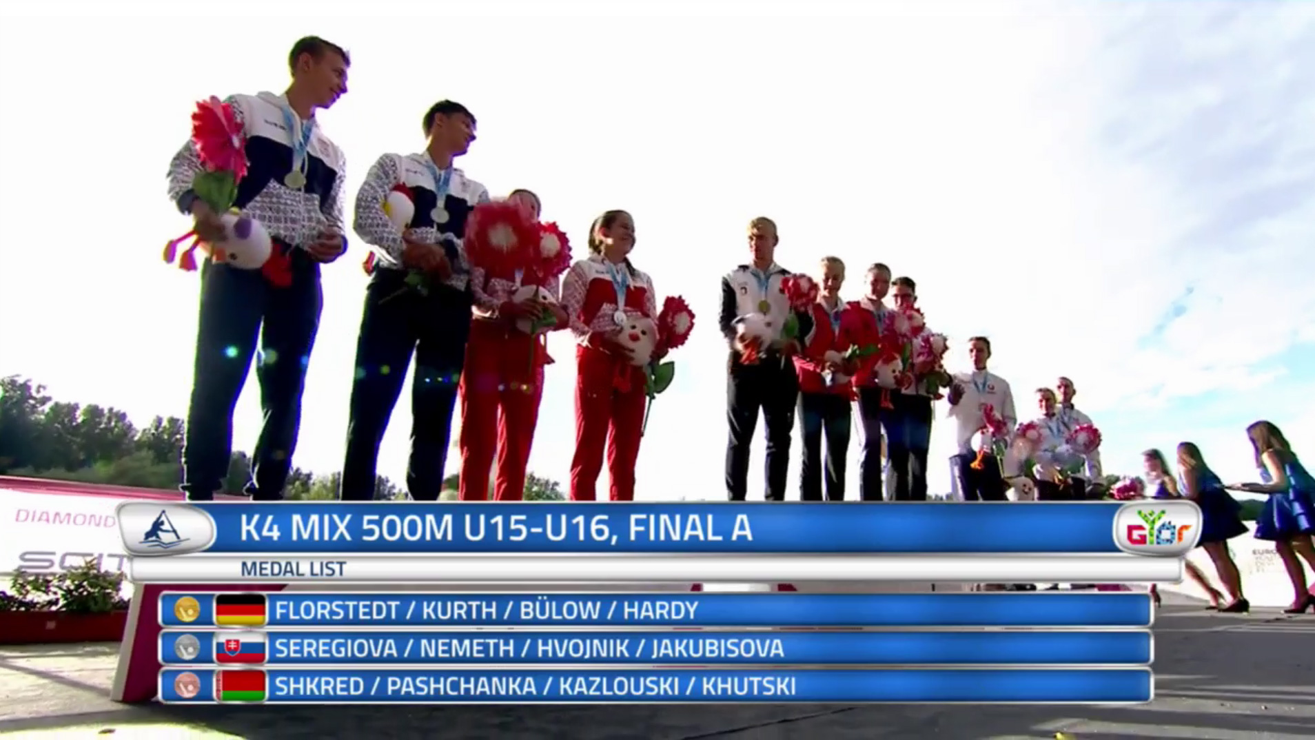 STRIEBRO v K4 MIX na 500m - Jakubisová Romana, Hvojnik Martin , Németh Richard a Seregiová Karolína
