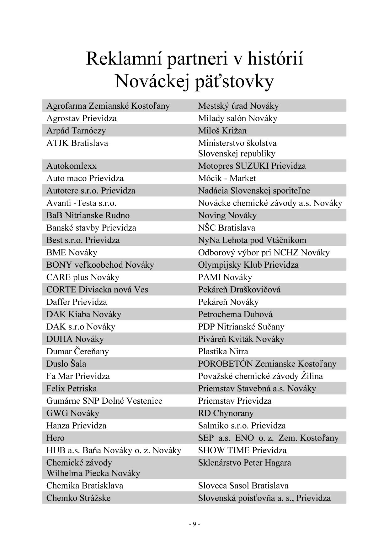Bulletin pri príležitosti 40. ročník Nováckej päťstovky, strana 14