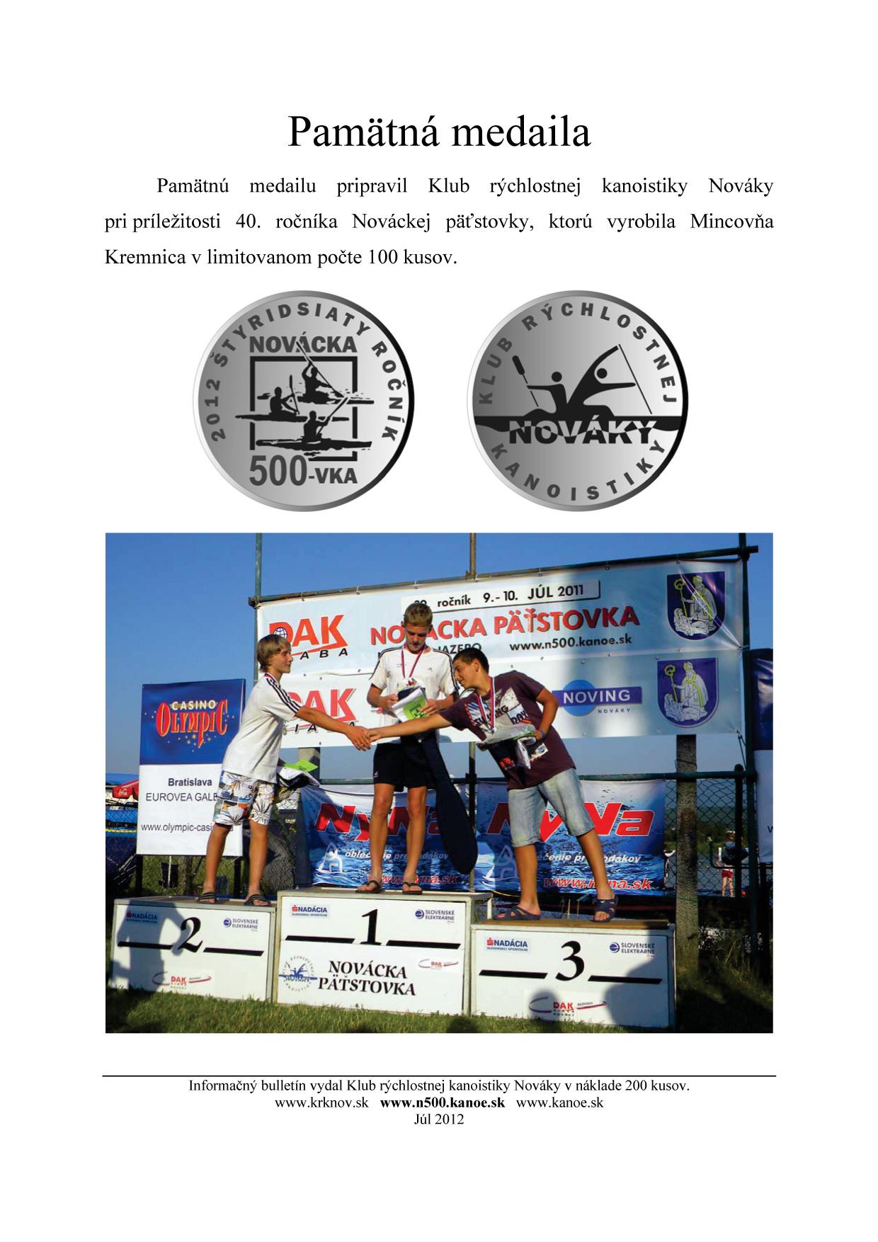 Bulletin pri príležitosti 40. ročník Nováckej päťstovky, strana 16