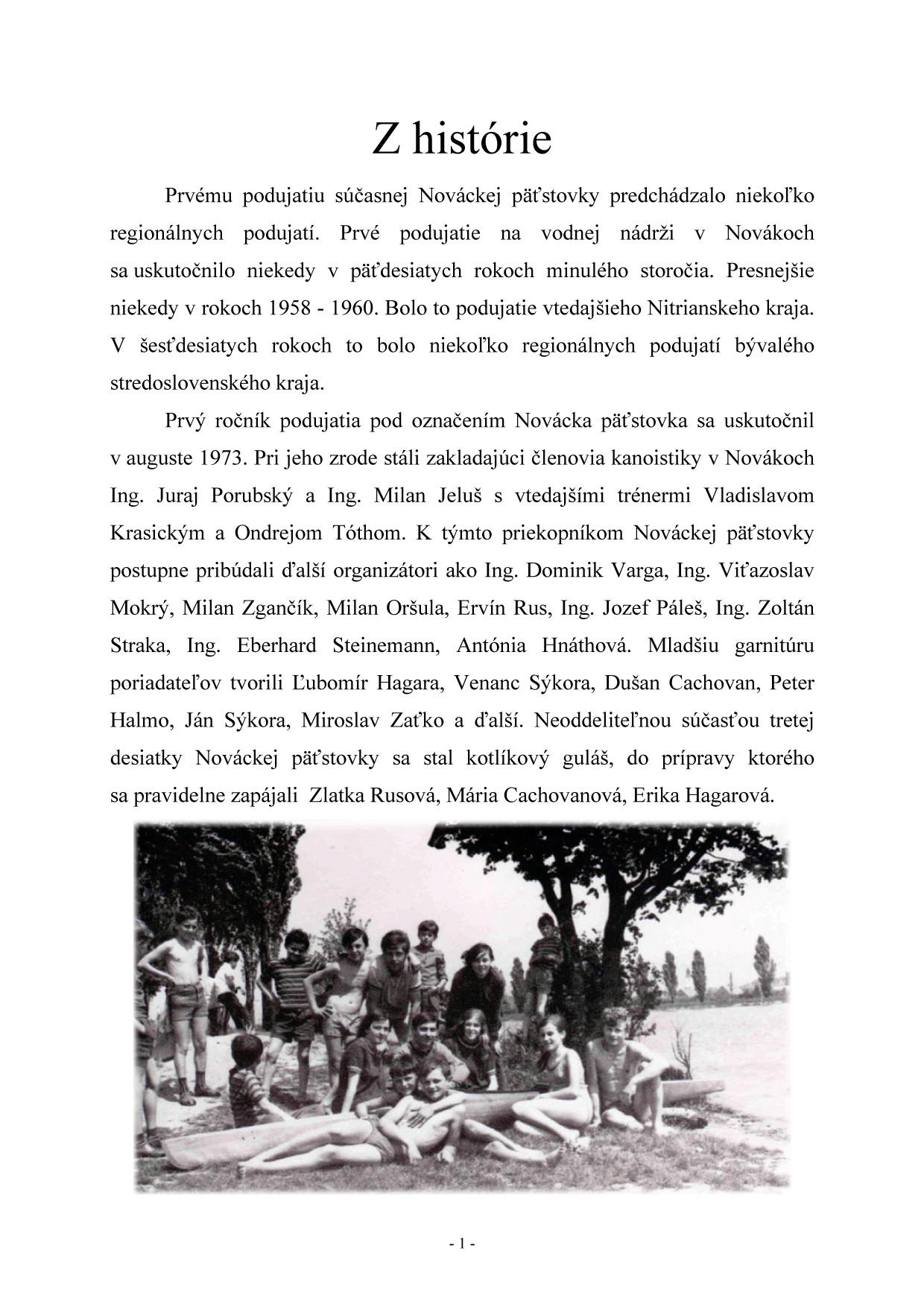 Bulletin pri príležitosti 40. ročník Nováckej päťstovky, strana 3