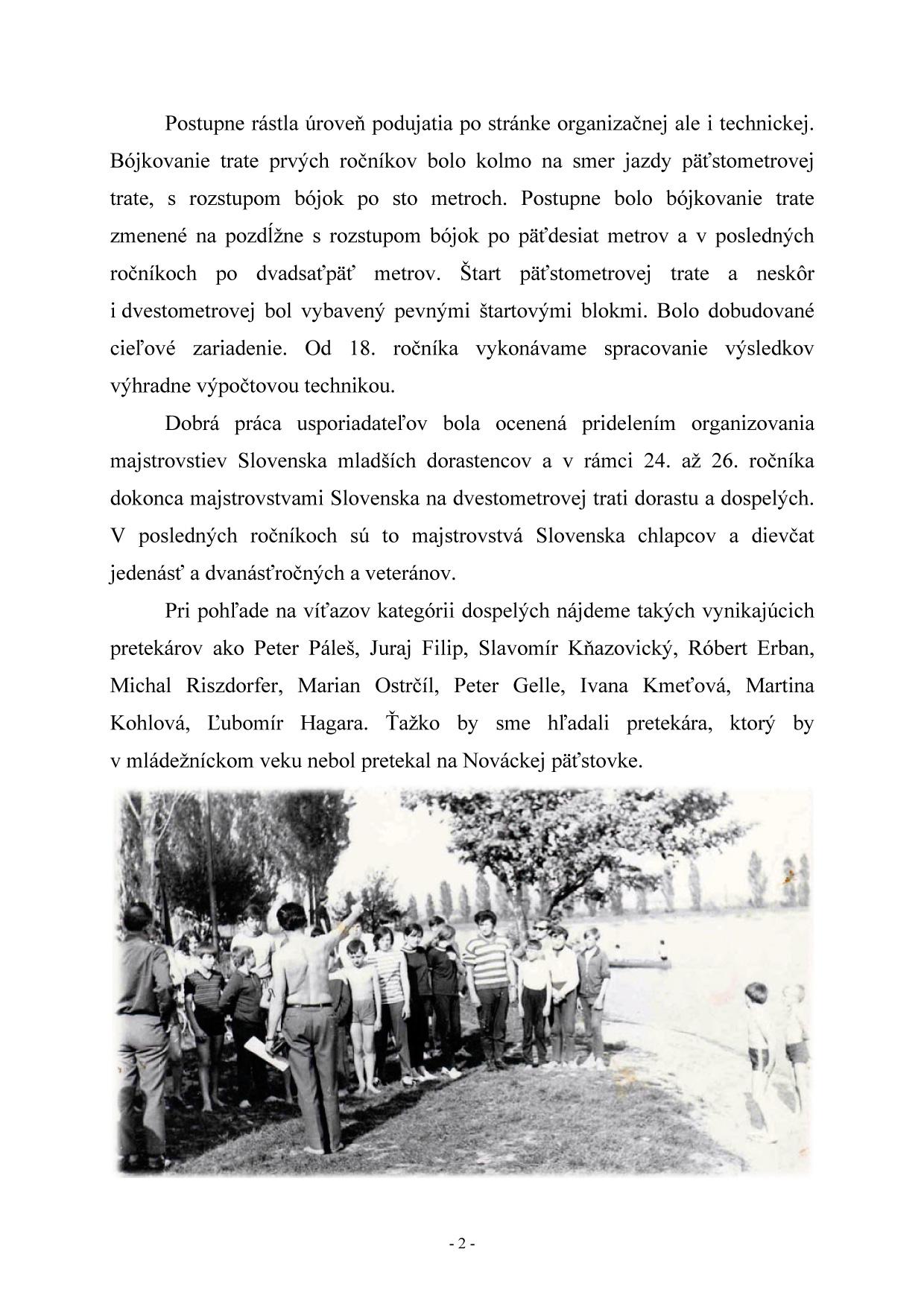 Bulletin pri príležitosti 40. ročník Nováckej päťstovky, strana 4