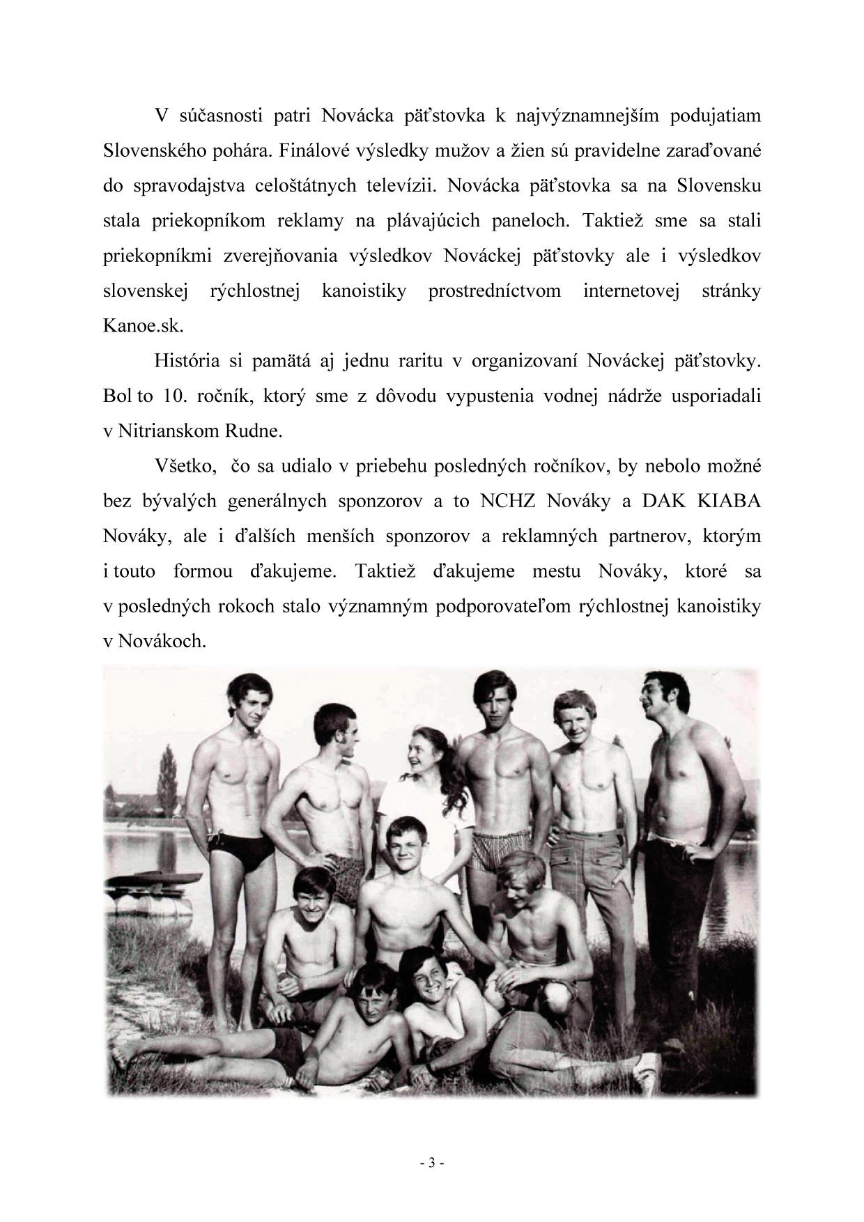Bulletin pri príležitosti 40. ročník Nováckej päťstovky, strana 5